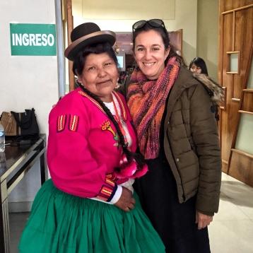 Con Cristina Suaña en CONPETUR 2017